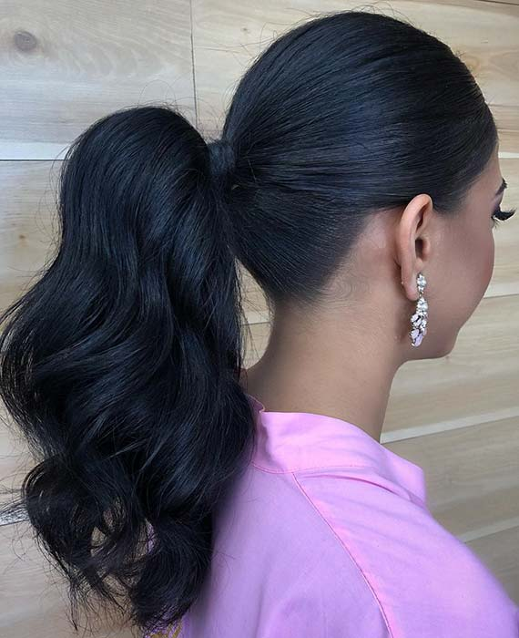 Simple and Stylish Ponytail for Brides or Bridesmaids