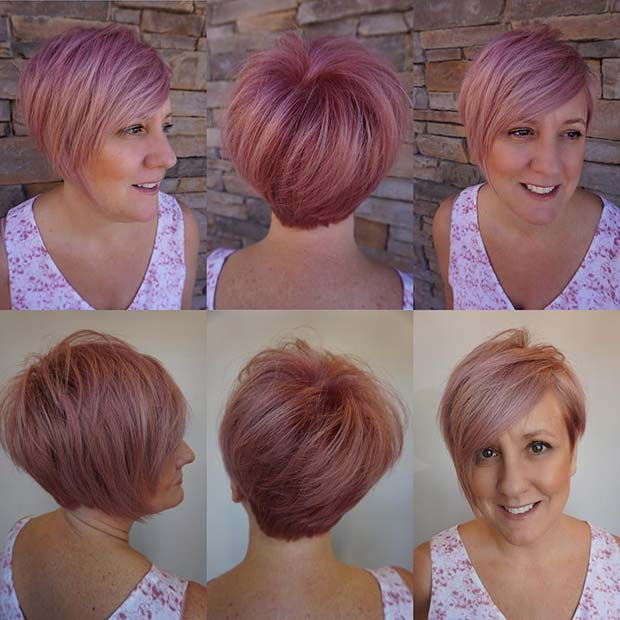 Soft Pink Short Hair