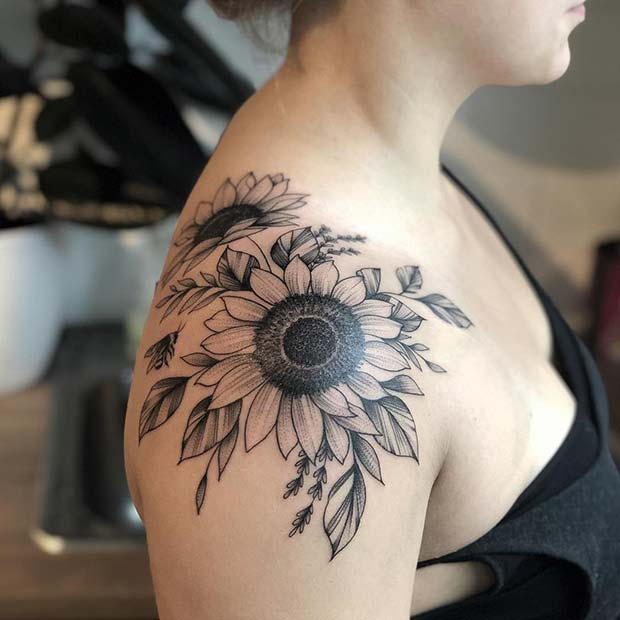 Sunflower Tattoo: 41 Pretty Sunflower Tattoo Ideas To Copy Now