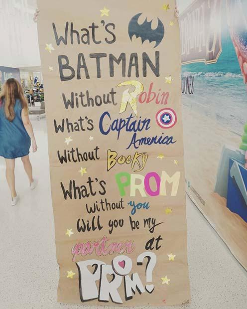 Superhero Prom Proposal Idea