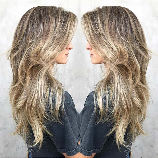 Trendy Blonde Layered Hair