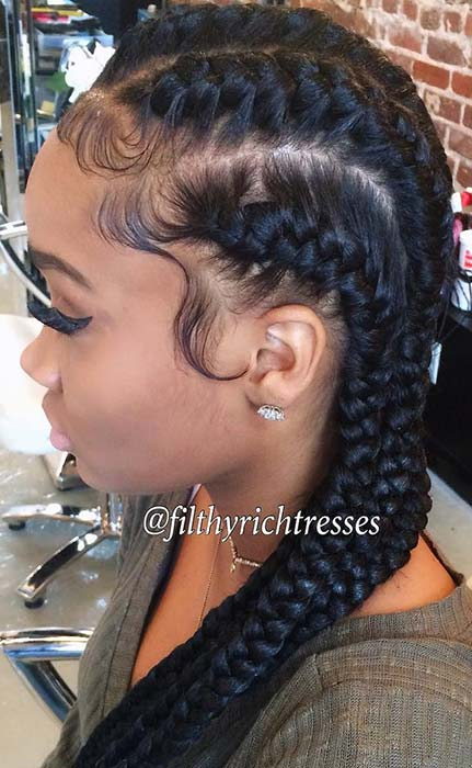 51 Goddess Braids Hairstyles For Black Women Page 4 Of 5