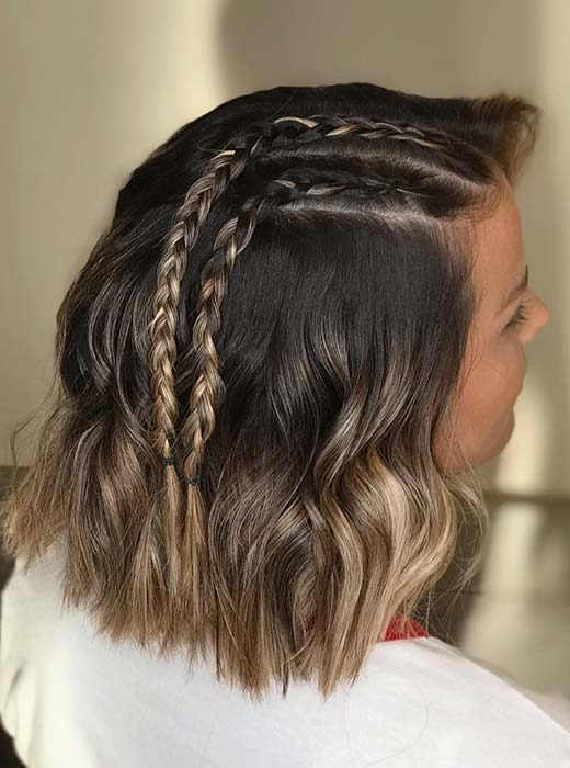 Two Cute & Simple Braids for Short Hair