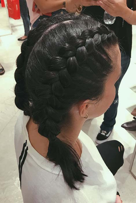 Two Dutch Braids for Short Hair