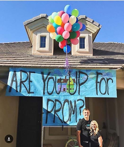 Creative Up Prom Proposal Theme