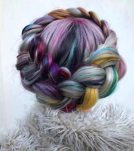 Vibrant Halo Braid