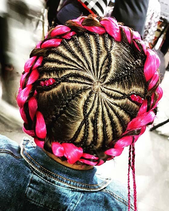 Vibrant Pink Halo Braid