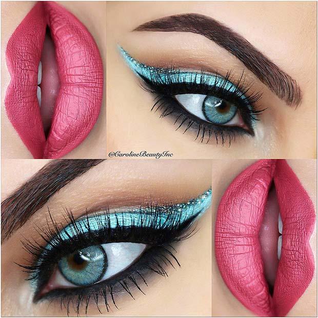 Vibrant Prom Makeup Idea