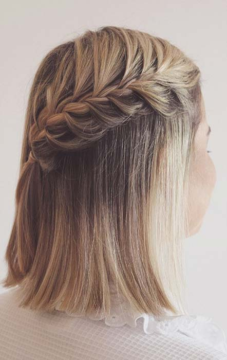 Easy Waterfall Braid for Short Hair