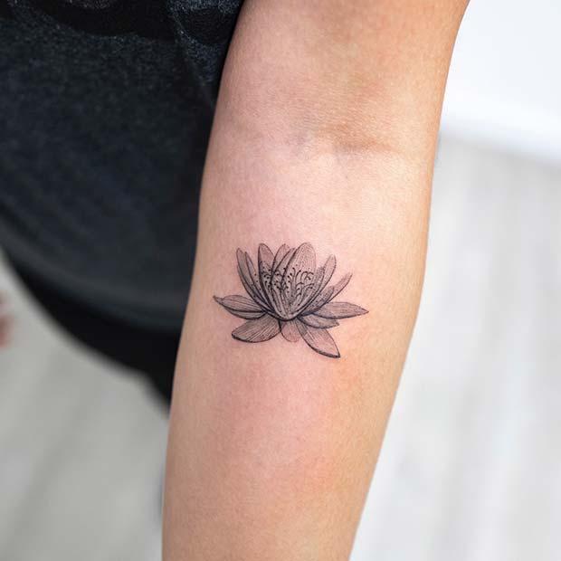 Artistic Lotus Tattoo Idea