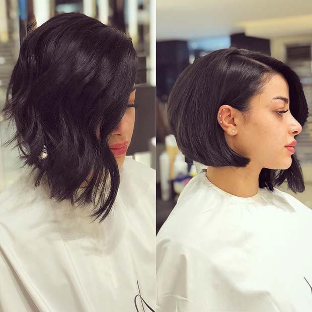 Trendy Asymmetrical Bob Haircut