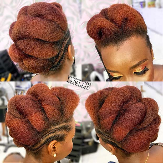 Braided Mohawk Updo