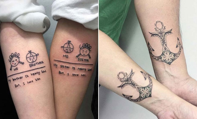Best Tattoo Ideas For Siblings: 23 Awesome Brother And Sister Tattoos To Show Your Bond