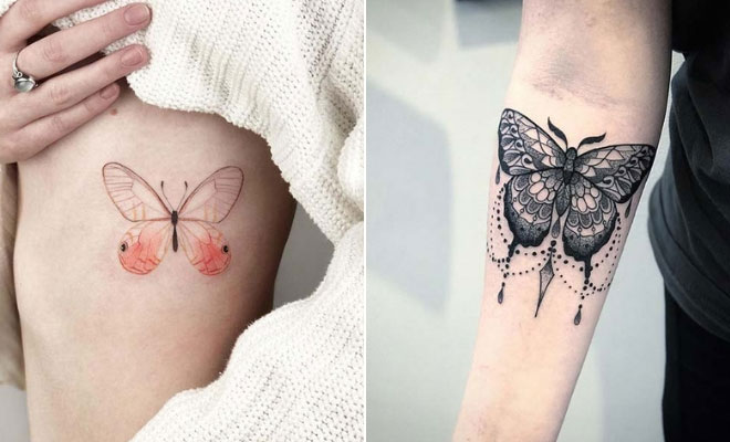 b100cd20bf 21 Pretty Butterfly Tattoo Designs and Placement Ideas | StayGlam