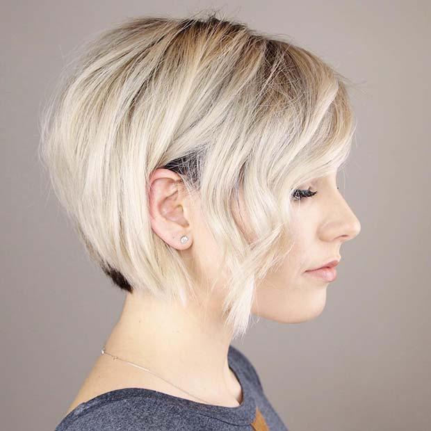 Chic Blonde Bob Hairstyle