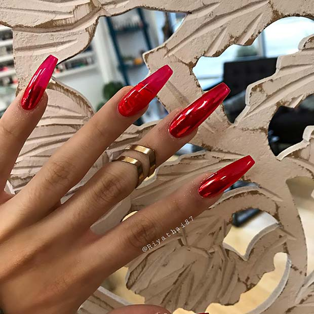 Long, Chrome and Jelly Nails