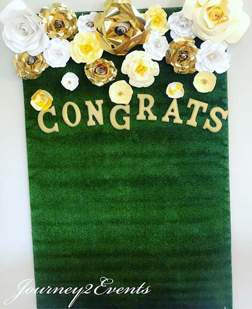 Congrats DIY Backdrop Idea