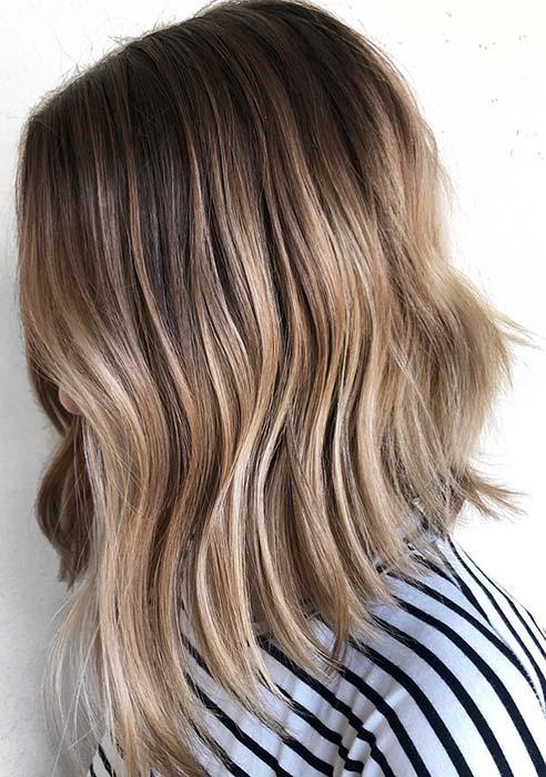 Cute Blonde Lob Haircut