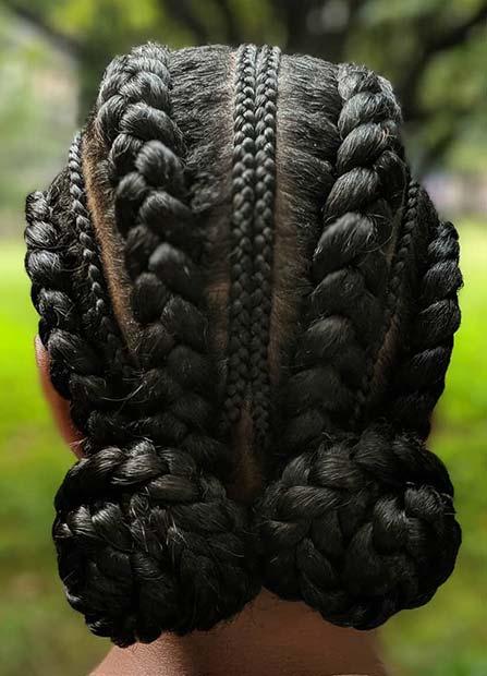 Cute Two Bun Hairstyle