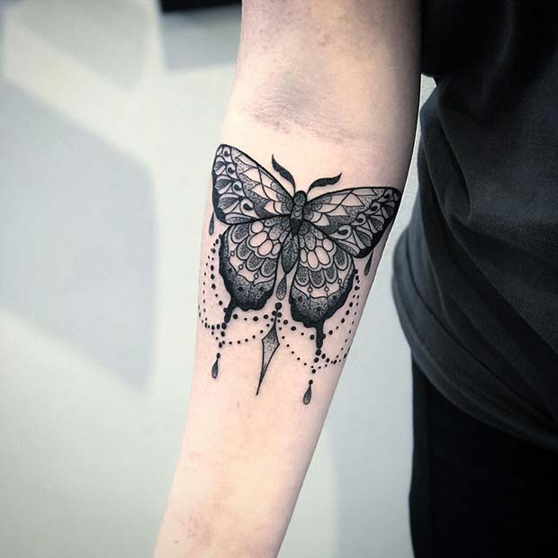 7a4ff2274 41 Pretty Butterfly Tattoo Designs and Placement Ideas | Page 2 of 4 ...