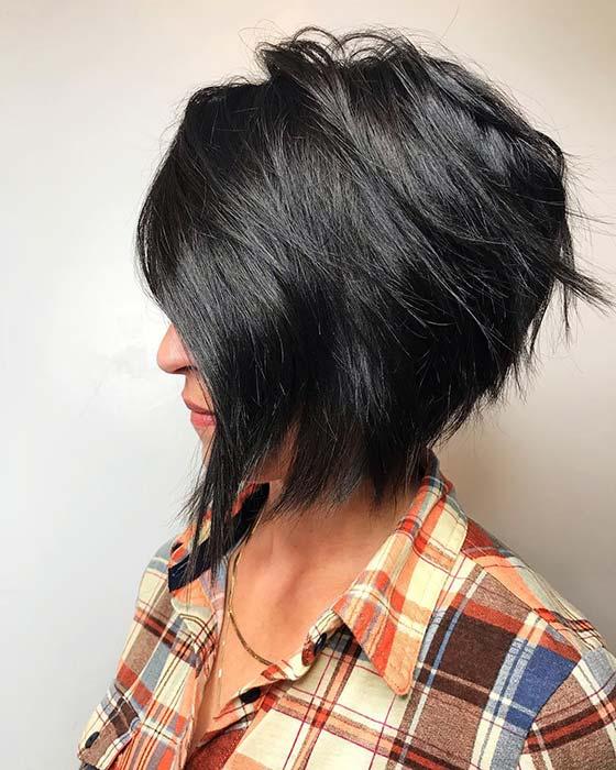Edgy, Short Bob Hair Idea