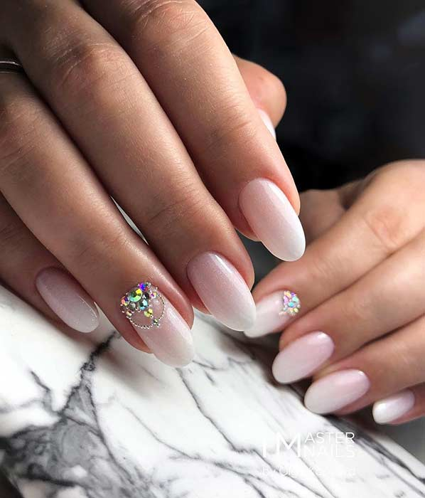 Elegant French Ombre Nails for Prom