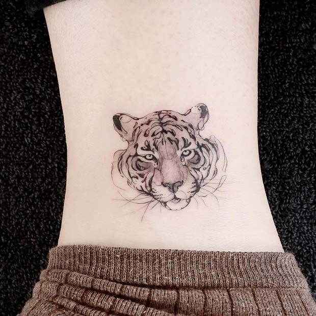 Fierce Tiger Tattoo Design