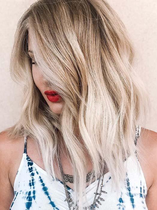 Glam Blonde Lob