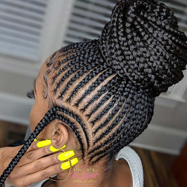 43 Cool Ways To Wear Feed In Cornrows Page 3 Of 4 Stayglam