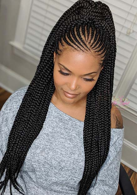 43 Cool Ways To Wear Feed In Cornrows Page 4 Of 4 Stayglam