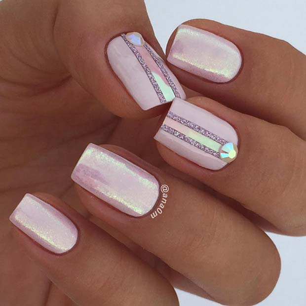 Glam Nail Design for Short Nails