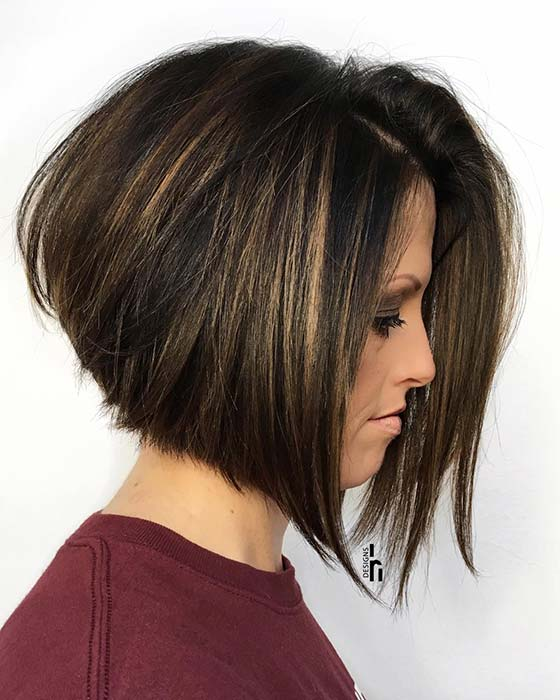 Voluminous Stacked Bob Hairstyle