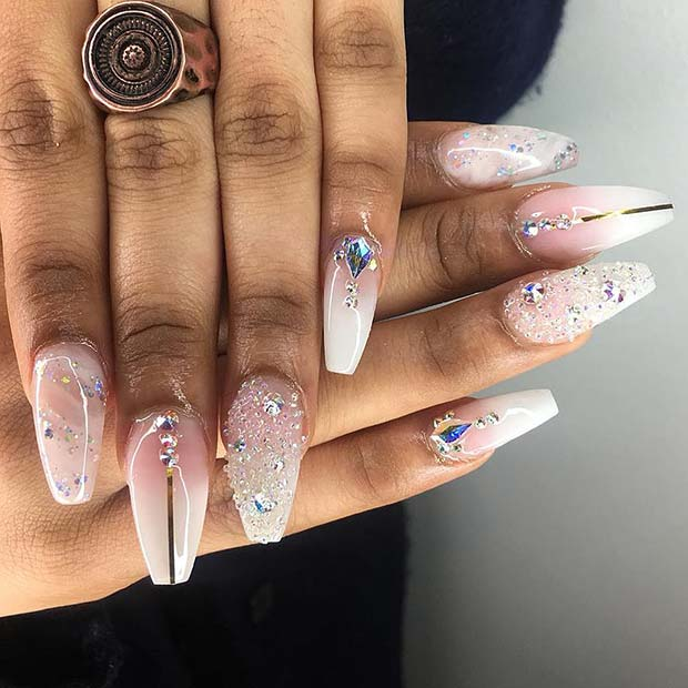 Glamorous French Ombre Nail Design
