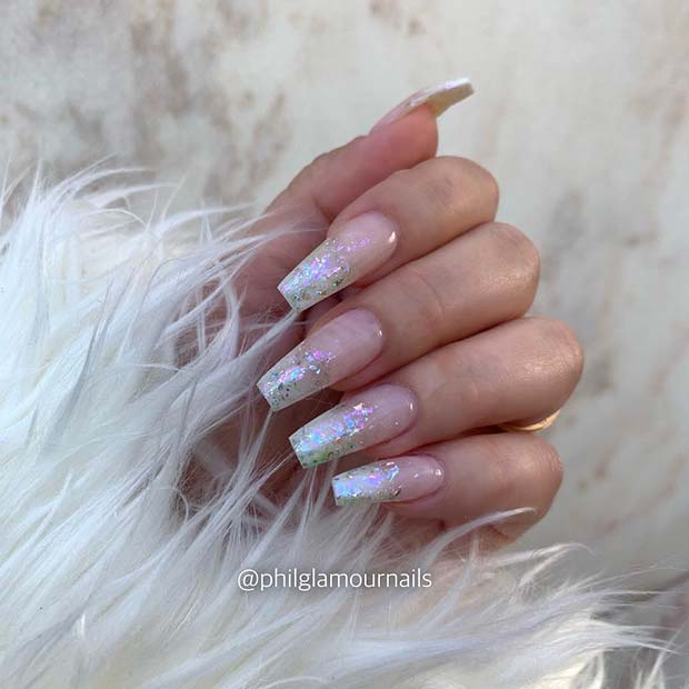 Glitter French Tips