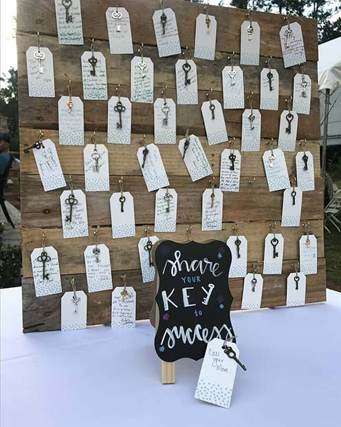 Share Your Key To Success Idea for a Graduation Party