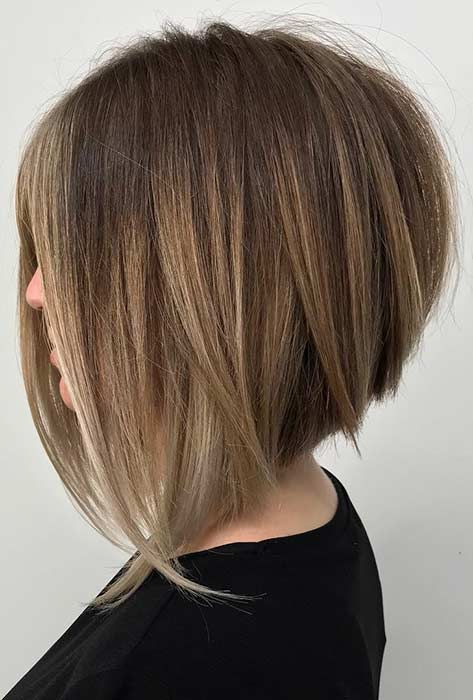 Long Stacked Bob Hairstyle