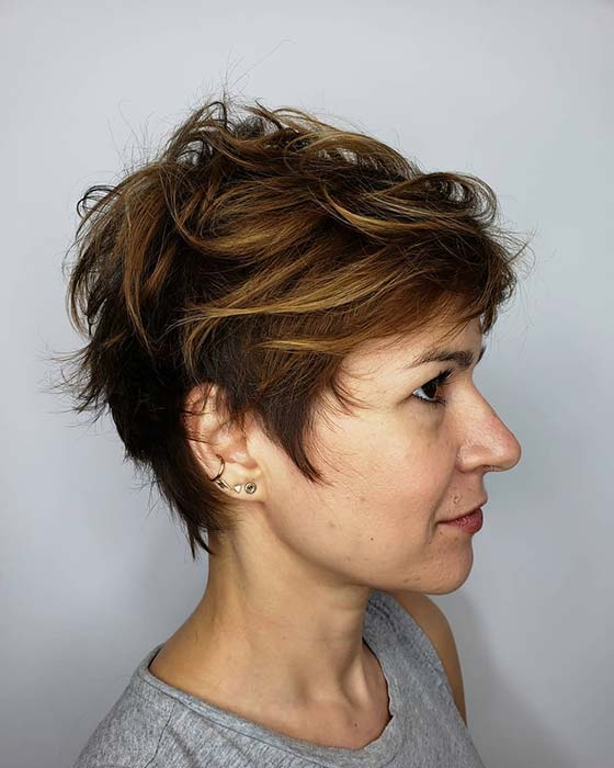 Long and Textured Pixie Cut