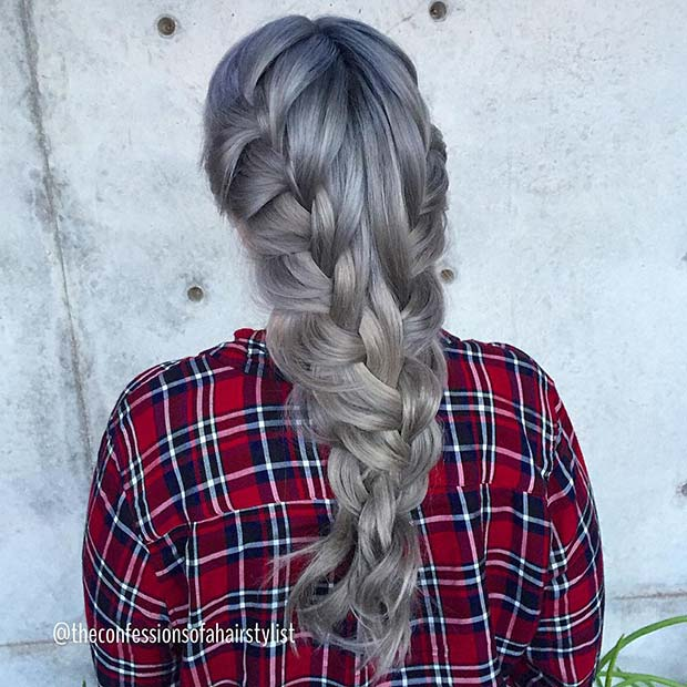 Loose Double Braids Style for Long Hair