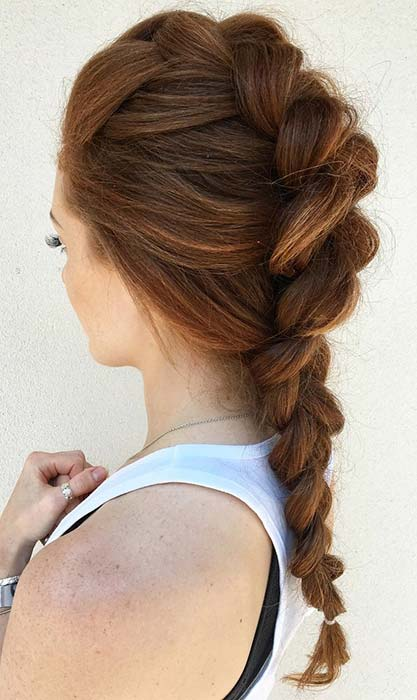 Simple and Stylish Mohawk Braid
