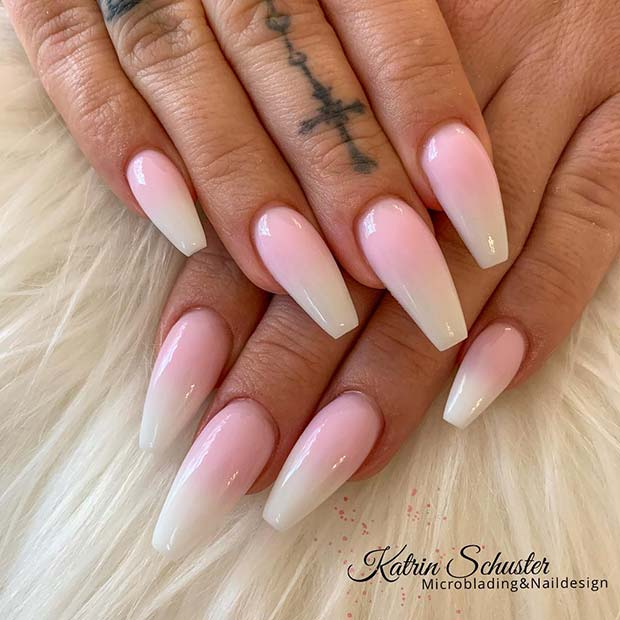 Simple and Stylish Ombre Nails