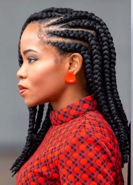 Medium Length Ghana Braids