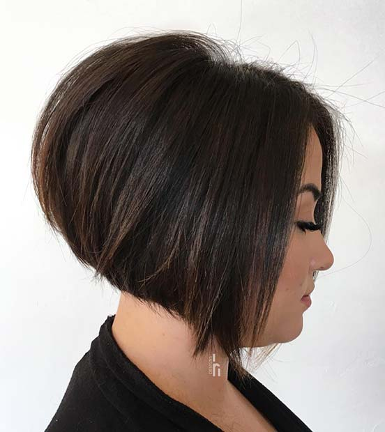 Simple and Stylish Stacked Bob Haircut