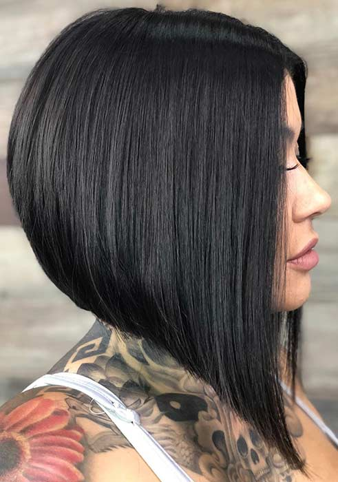 Stacked A-Line Bob Haircut
