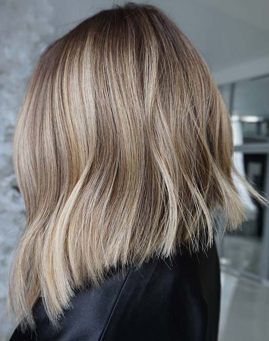 Stylish Blonde Lob Hair Idea