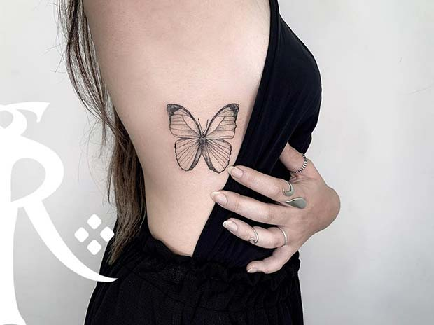 a21c6ca55 41 Pretty Butterfly Tattoo Designs and Placement Ideas | Page 2 of 4 ...