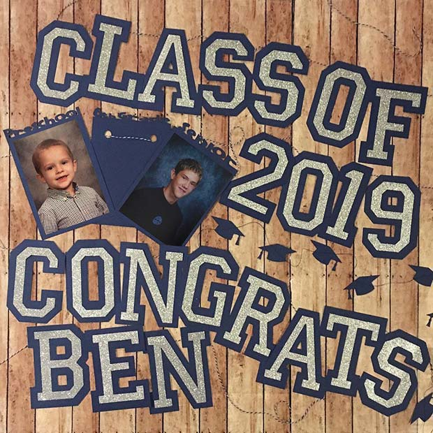 Then and Now Graduation Banner Idea