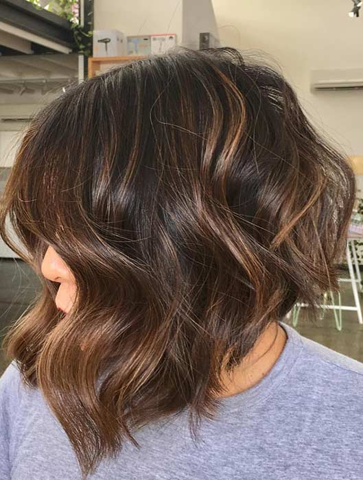 Trendy Stacked Bob Haircut Idea