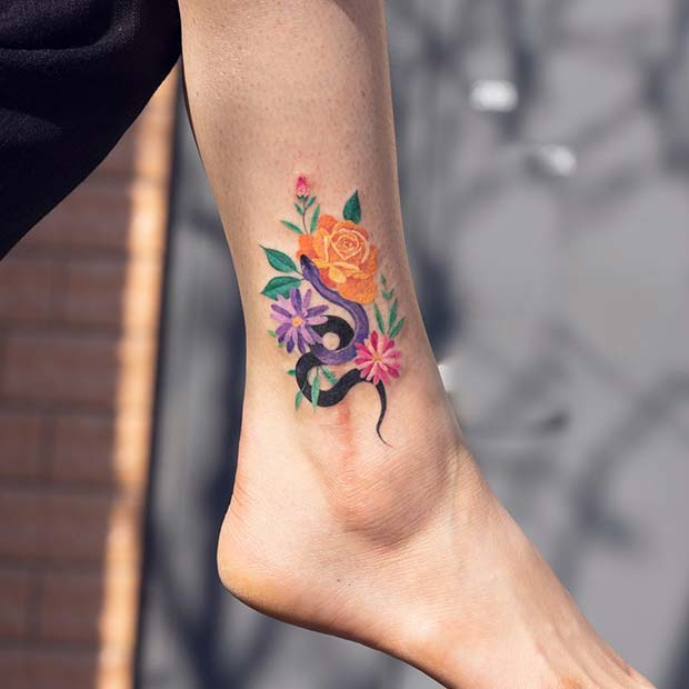 23 Pretty Ankle Tattoos Every Woman Would Want Page 2 Of 2 Stayglam