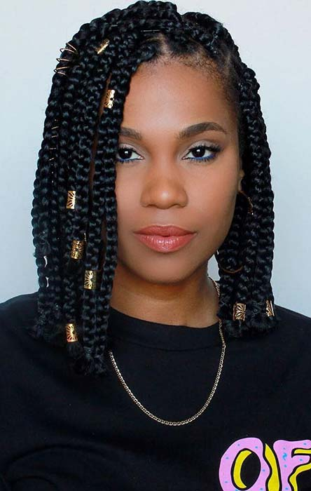Accessorized Box Braids