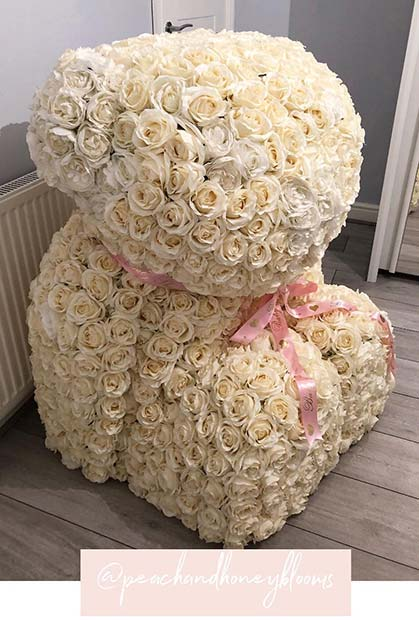 Amazing Rose Flower Bear